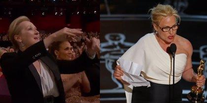 El discurso de Patricia Arquette que hizo vibrar a Meryl Streep