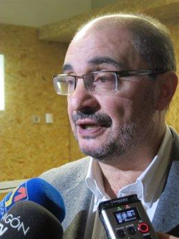 El secretario general del PSOE-Aragón, Javier Lambán