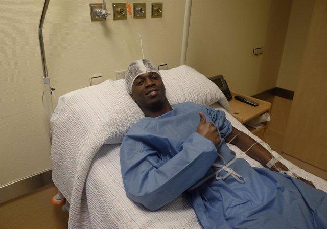 Koné en el hospital