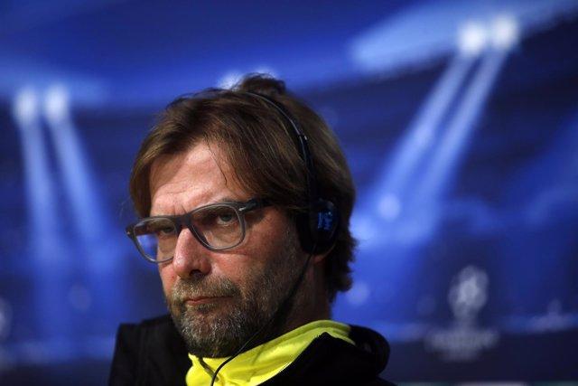 Jurgen Klopp, entrenador del Borussia Dortmund, en el Bernabéu