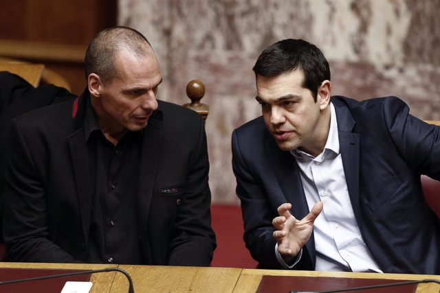 Varoufakis y Tsipras