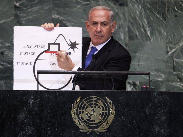 Benjamin Netanyahu en la Asamblea General de la ONU