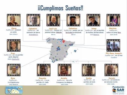 La Fundación SARquavitae hace realidad los sueños de 13 residentes de sus centros de toda España