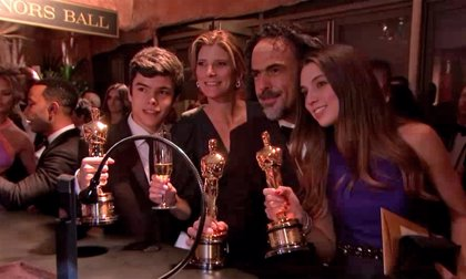 Iñárritu, Moore, Arquette y cía presumen de Oscar en la Gobernor's Ball