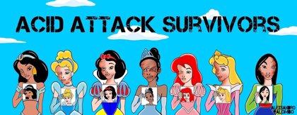 Princesas Disney supervivientes de un ataque con ácido