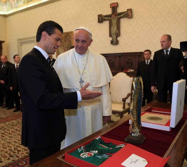 Peña Nieto con el Papa Francisco