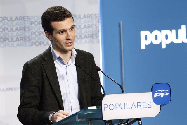 Pablo Casado en Génova