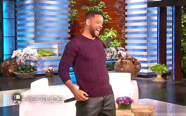 Will Smith en el programa de Ellen DeGeneres