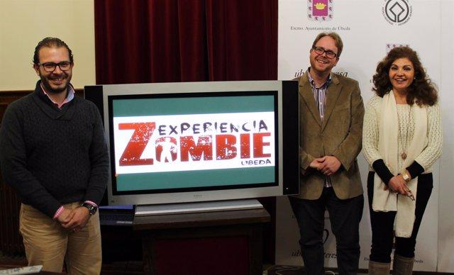 Navas, Lizana y Olmedilla presentan 'Experiencia zombie'.