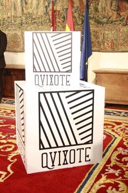 Logotivo IV centenario de la publicación del Quijote.