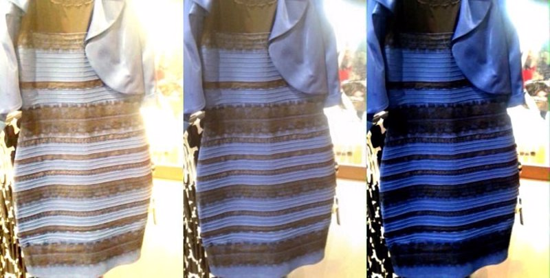 Vestido color azul con blanco