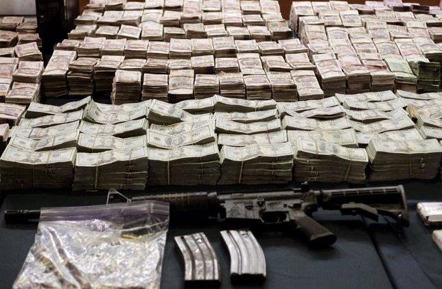 Pesos mexicanos, narcotráfico