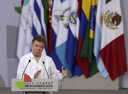 Santos inicia una visita  a España para afianzar el apoyo al proceso de paz