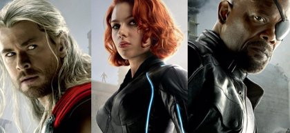 Scarlett Johannson, Samuel L. Jackson y Chris Hemsworth, en los nuevos carteles de Los Vengadores: La era de Ultrón
