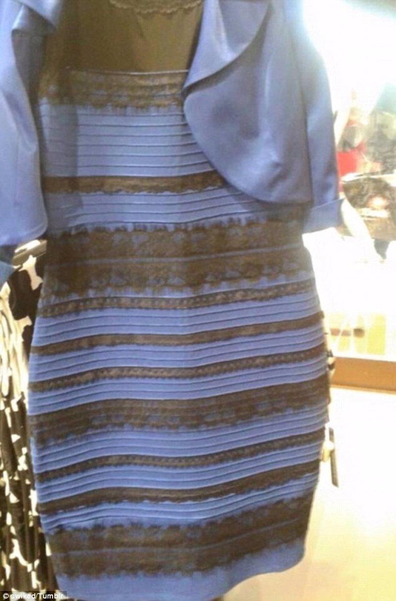 Vestido de color negro y azul