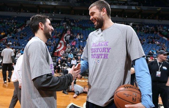 Ricky Rubio Marc Gasol Minnesota Timberwolves Memphis Grizzlies