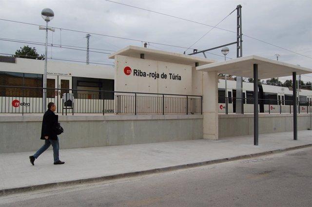 Estación de Metrovalencia en Riba-roja del Túria