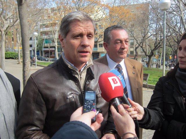 Alberto Fernández (PP) en declaraciones a los periodistas