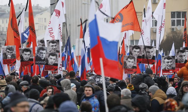 Marcha en recuerdo de Boris Nemtsov