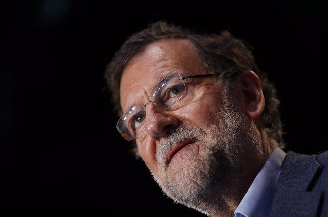 Mariano Rajoy, en un acto de partido en Sevilla