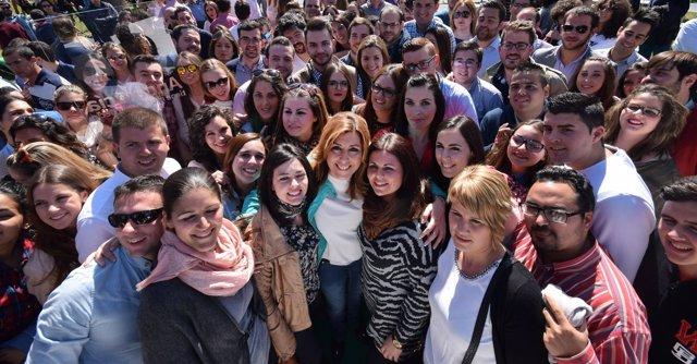 Susana Díaz este domingo en Sevilla
