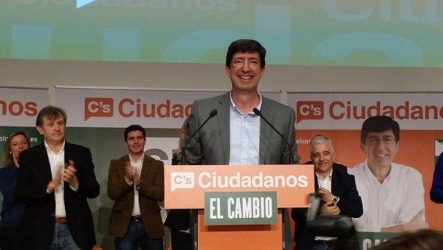 El candidato a la Junta de Ciudadanos, Juan Marín