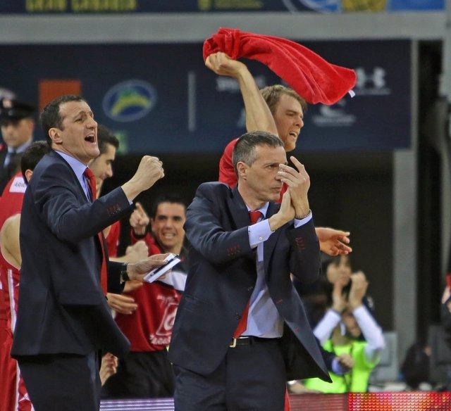 Joaquín Ruiz, entrenador del CAI Zaragoza en la Copa del Rey