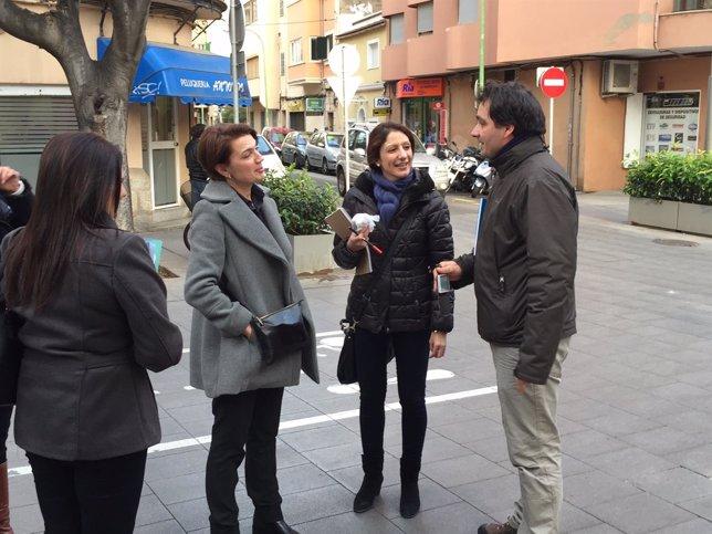 Durán visita barrios de Palma