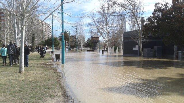 El Ayuntamiento recomienda evitar acercarse a las riberas.