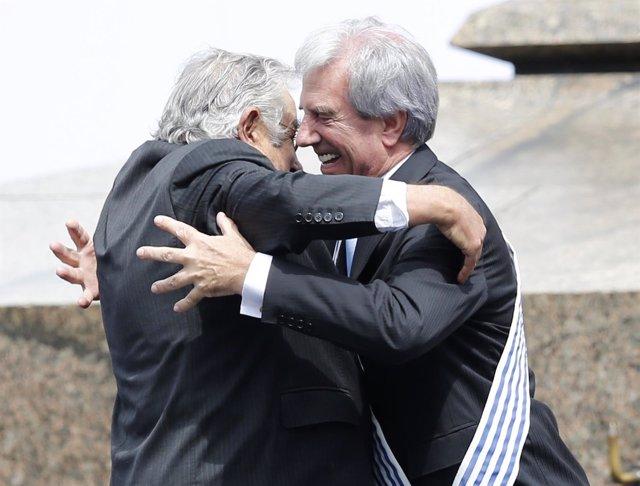 Los líderes uruguayos José Mujica y Tabaré Vázquez