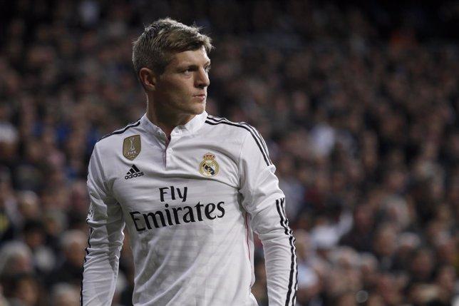 El centrocampista alemán del Real Madrid Toni Kroos