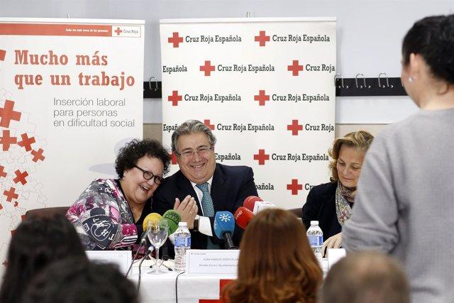 Zoido, Junto A Amalia Gómez Durante La Clausura Del Curso