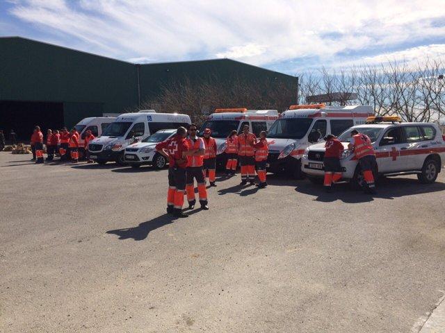 Cruz Roja moviliza efectivos ante el posible desalojo de Pina de Ebro