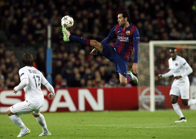 Sergio Busquets en el Barcelona - PSG