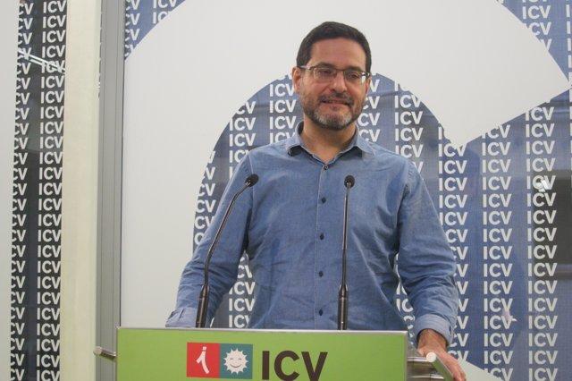 El secretario general de ICV, Josep Vendrell