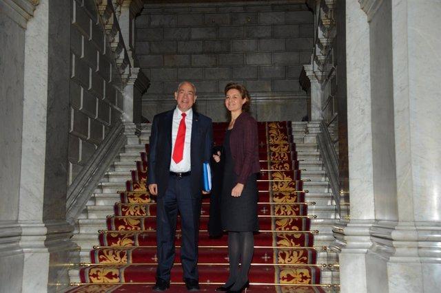 Isabel García Tejerina y el presidente de la OCDE, Ángel Gurría