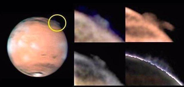 Nube gigante en Marte