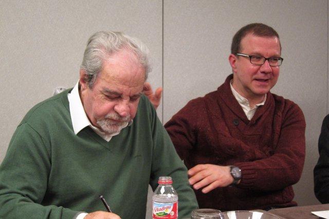 Juan Marsé y su biógrafo Josep Maria Cuenca
