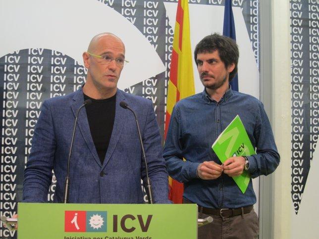 Raül Romeva y Ernest Urtasun, ICV