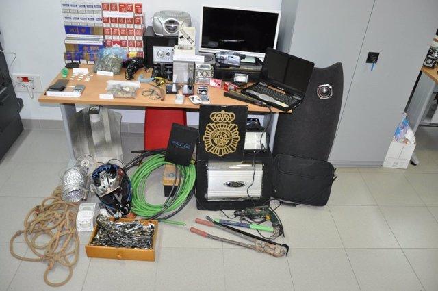Objetos de los robos