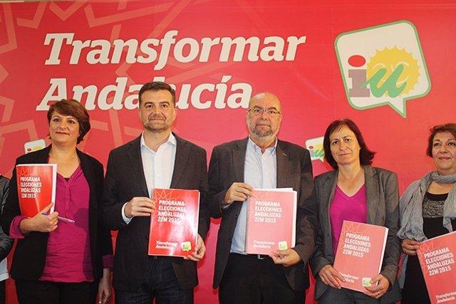 Maíllo en la presentación del programa electoral de IULV-CA para el 22M
