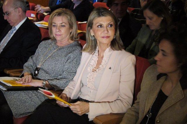 Consejera de Educación aragonesa D.Serrat y delegada del Gobierno Ll.De Luna
