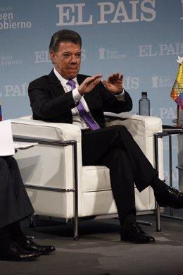 Juan Manuel Santos en España