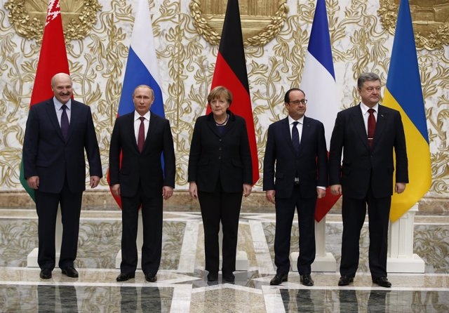 Reunión en Minsk entre Putin, Poroshenko, Merkel y Hollande