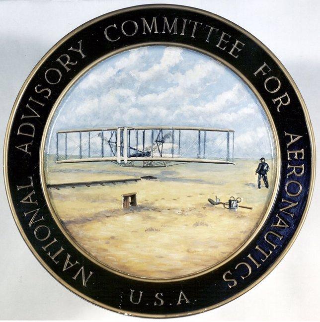 Emblema de la NACA, antecesora de la NASA