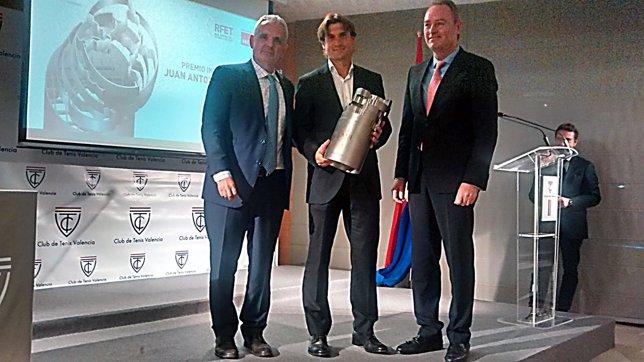 David Ferrer con Escañuela y Fabra
