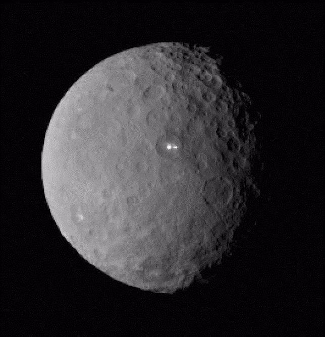 Los puntos brillantes de Ceres