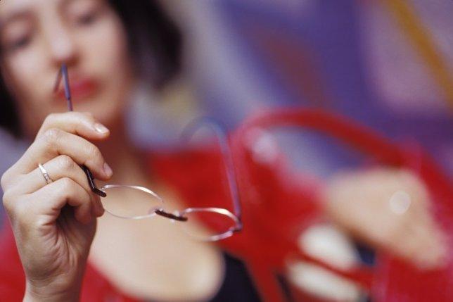 Gafas, mujer, miopía
