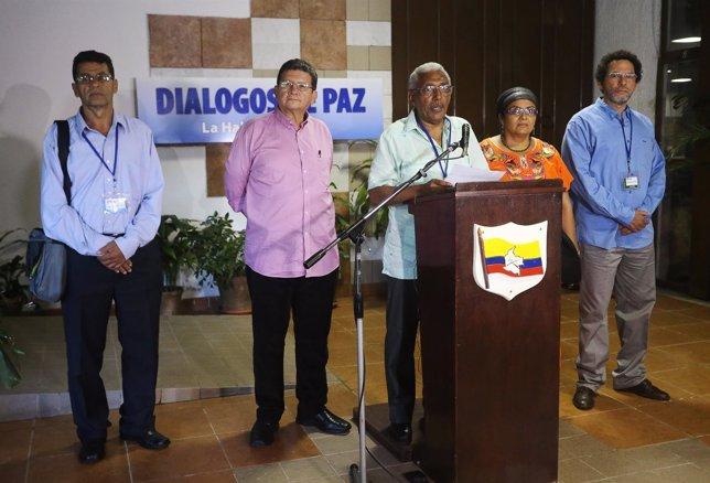 Fuerzas Armadas Revolucionarias de Colombia (FARC ) negociador Joaquín Gómez