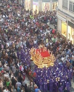 Trono Semana Santa gitanos Málaga nazarenos cristo